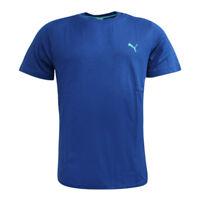 Puma Essential Short Sleeve Mens T Shirt Short Sleeve Top Blue 823978 15 A9C
