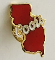 Coors Beer Brand New Jersey Man Cave Advertising Pin Badge Rare Vintage (H6)