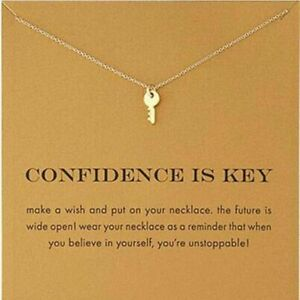 "KEY Necklace gold dipped Gift 16-18"" confidence necklace realtor new house NEW"