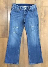 LEVIS 525 PERFECT WAIST BOOT CUT JEANS Stretch Denim With Holes Womens 10P Med