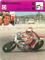 FICHE CARD: Johnny Cecotto Venezuela  Motorcycle Racing MOTORCYCLING 1970s