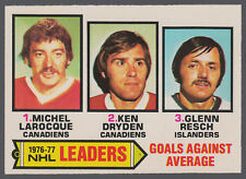 1977 78 OPC O PEE CHEE #6 KEN DRYDEN MICHEL LAROCQUE RESCH NM LEADERS CANADIENS