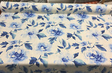 Pretty Please Floral  Porcelain Blue HGTV Drapery Upholstery Fabric