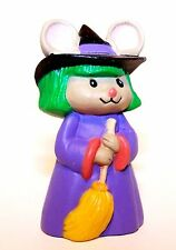 1993 Hallmark Mouse Witch with Green Hair NEW Merry Miniature HALLOWEEN QFM8292