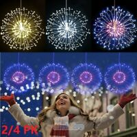 2/4X Firework LED String Lights 180LED Copper Wire Strip Fairy Light with Remote