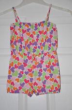 Baby Gap Niña multicolores corazón Playsuit Mono/(3 años) en muy buena condición