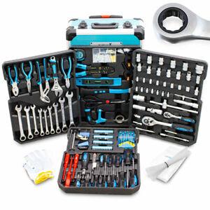 BITUXX Werkzeugkoffer 1200 tlg Ratschenringschlüssel Werkzeugtrolley Gebraucht