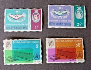 British Solomon Islands 1965/1966 International Co-operation Year & WHO sets