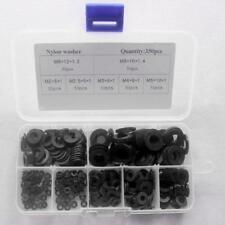 350pcs/box M2-M8 Nylon Plastic Insulation Washers Plumbing Leakproof Gasket