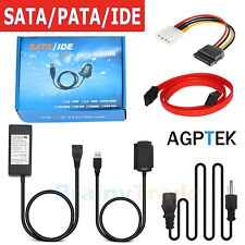"""SATA/PATA/IDE to USB 2.0 Converter Adapter Cable for Hard Drive Disk 2.5"""" 3.5"""""""