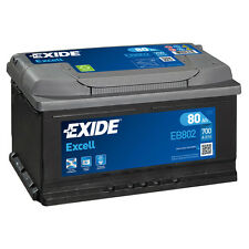 1x Exide Excell 80Ah 700CCA 12v Type 110 Car Battery 3 Year Warranty - EB802