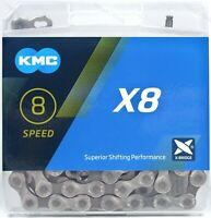 KMC X8 6/7/8 (18/21/24) Speed Bike Chain X8.93 116L fits Road / MTB 3x6 3x7 3x8