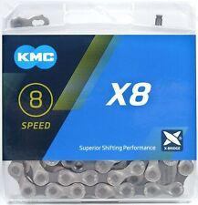 KMC X8 6/7/8 (18/21/24) Speed Bike Chain X8.93 116L fits Road / MTB 3x6 3x7 3x8