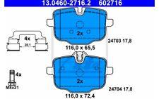 ATE Juego de pastillas freno para SEAT TOLEDO BMW Serie 5 6 13.0460-2716.2