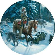 BITS AND PIECES ROUND JIGSAW PUZZLE MOON WALK RUSS DOCKEN WOLVES 500 PCS #41309
