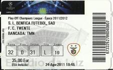 BENFICA - TWENTE 2011 - 2012 CHAMPIONS LEAGUE PLAY-OFF TICKET STUB