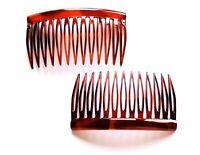 2 x Steckkämme Einsteckkamm Haarkamm Haarklammer Haarspange 7 cm x 4,1 cm braun