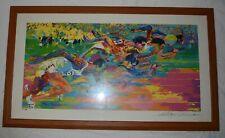Leroy Neiman Autographed Print of Olympic Track Runners