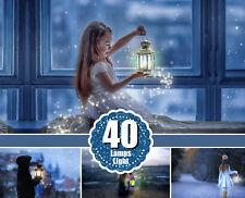 40 Light overlays, kerosene lamp, candle lamps, Photoshop Overlay, png
