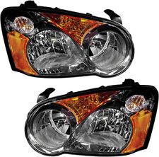 New Halogen Headlights Headlamp Assembly w/Bulb Pair Set for 2004 Subaru Impreza