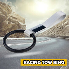 Car Truck Black High Strength Racing Tow Towing Halo Hook Front Rear Bumper
