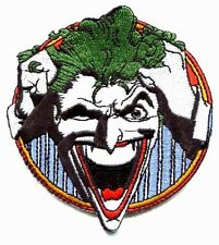 THE JOKER round face IRON-ON PATCH  **Free Shipping** -pdc17 dc comics batman