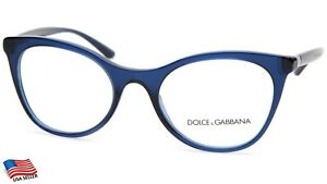 NEW D&G Dolce& Gabbana DG 3312 3094 OPAL BLUE EYEGLASSES  52-20-140 B42 Italy