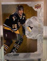 2019-20 UD Engrained Mario Lemieux Card #43 #'d 156/299 Pittsburgh Penguins