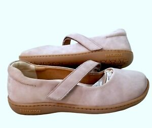 New Birkenstock 'Lora Mary Janes Taupe Nubuck Leather Suede Women Shoes Size 38