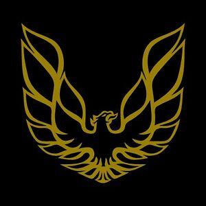 """Pontiac Firebird Trans Am decal sticker 10.5"""" x10.5"""" Gold vinyl"""