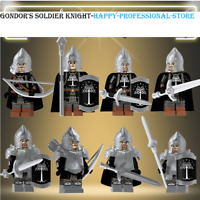 8 Lord of the Rings Orc Heavy Infantry Soldiers - Lego MOC Minifigures