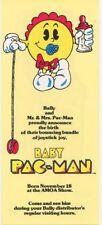 BABY PACMAN Mini Pinball FLYER 1982 Original NOS Arcade Pinball Machine BALLY