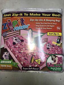 Zipit Friends Twin Bedding Pink Unicorn