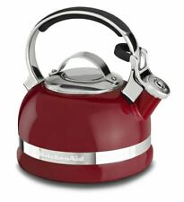 KitchenAid 2-Qt Porcelain Enamel Tea Kettle with Stainless Steel Handle in Red