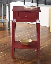 Wood Storage Side/End Table With Drawer, Living Room Furniture Night Stand