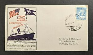 1941 SS Agwi Monte Maiden Voyage Ship Mail Cover Tocopilla Chile Buffalo NY USA