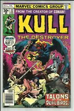KULL THE DESTROYER #22 1977 MARVEL BARBARIAN ACTION BY THE CREATOR OF CONAN! VG