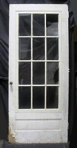 """36""""x84"""" Antique Vintage Old Wood Wooden Storm Screen Exterior Door Window Glass"""