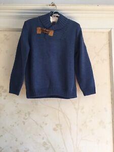 NWT Janie And Jack Boys Shawl Collar Sweater 4  4T Navy