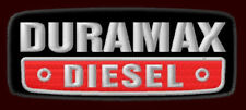 "DURAMAX DIESEL EMBROIDERED PATCH ~3-3/4 x1-1/2"" D MAX V8 ENGINE GM 6.5 TRUCKS #1"