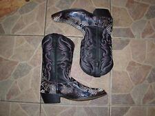 Laredo  Mens Size 9 us  42 eu) Black  Phyton Print Snakeskin Western Boots
