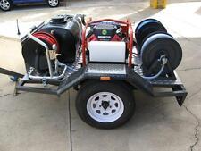"Jetter Trailer 5000psi 23lpm Spitwater mini reel  60m 1/4"" & 3/8"" hose & nozzles"
