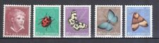Schweiz 1952 postfrisch MiNr. 575-579  Pro Juventute  Insekten