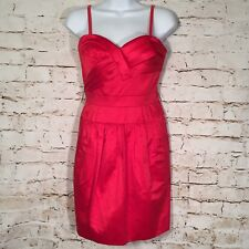 BCBG MAXAZRIA Size 6 Red Sheath Party Mini Womens Dress (Missing Belt)