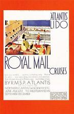 Postcard Nostalgia July 1930 Royal Mail Cruises Advert Poster Reproduction Card