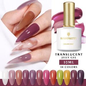 10ml BORN PRETTY Translucent UV Gel Nail Polish Jelly UV LED Nail Art Varnish