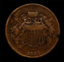 From an old collection: 1864 Small Motto Two-Cent 2c piece: VG or a bit better