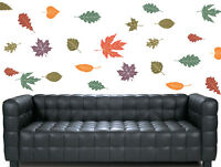 Floating Leaves - 28 Pack - Wall Art Vinyl Stickers Tree Floral Leaf Decals