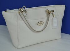 NEW AUTHENTIC COACH LIGHT BEIGE GENUINE LEATHER SHOULDER TOTE BAG RETAIL $225.00