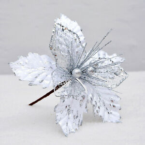 Christmas Ornaments Accessories Fake Simulation Cuttings 20cm Artificial Flowers